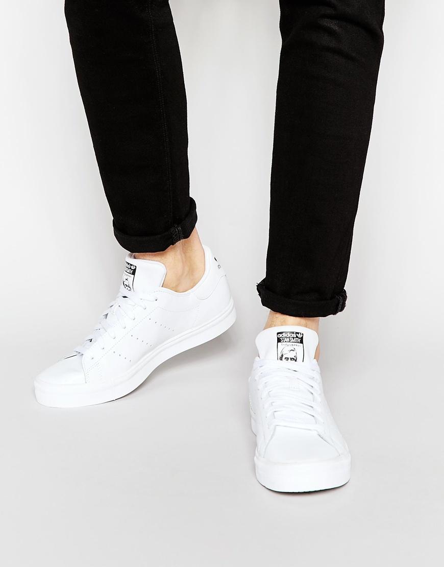 adidas Originals Stan Smith Vulc Trainers S77449 in White for Men ...