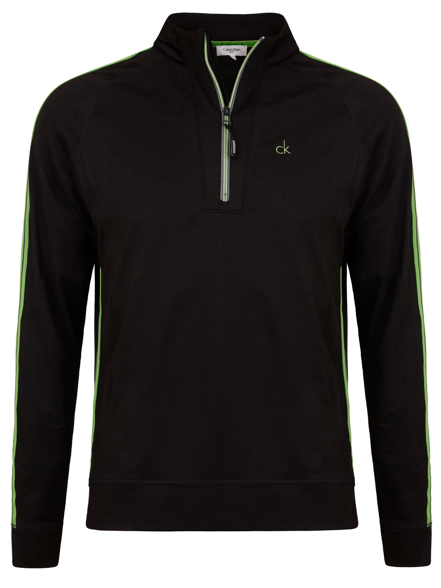 calvin klein half zip thermo tech pullover in black for. Black Bedroom Furniture Sets. Home Design Ideas