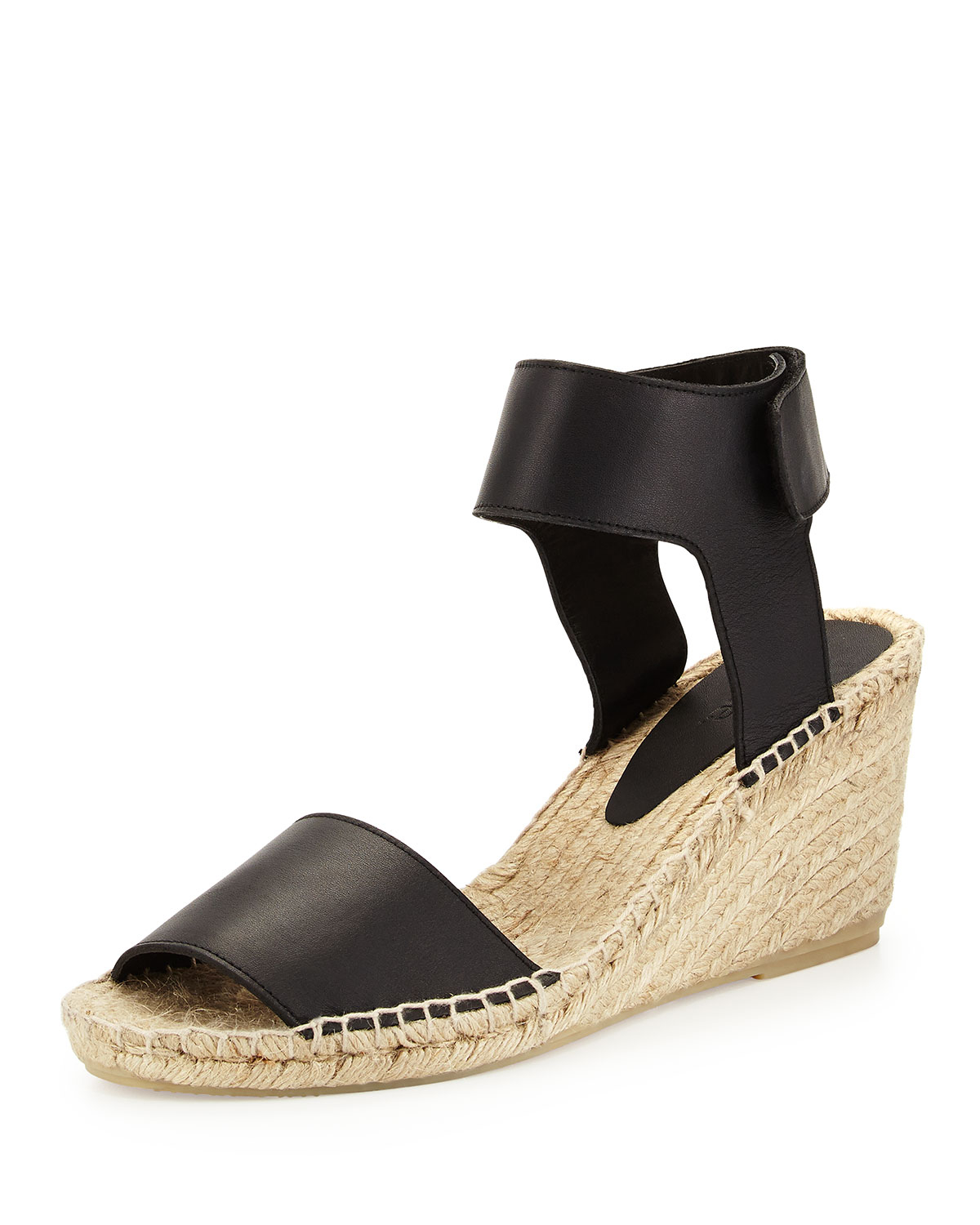 a9cf9fe3081 Lyst - Vince Sophie Leather Espadrille Wedge in Black