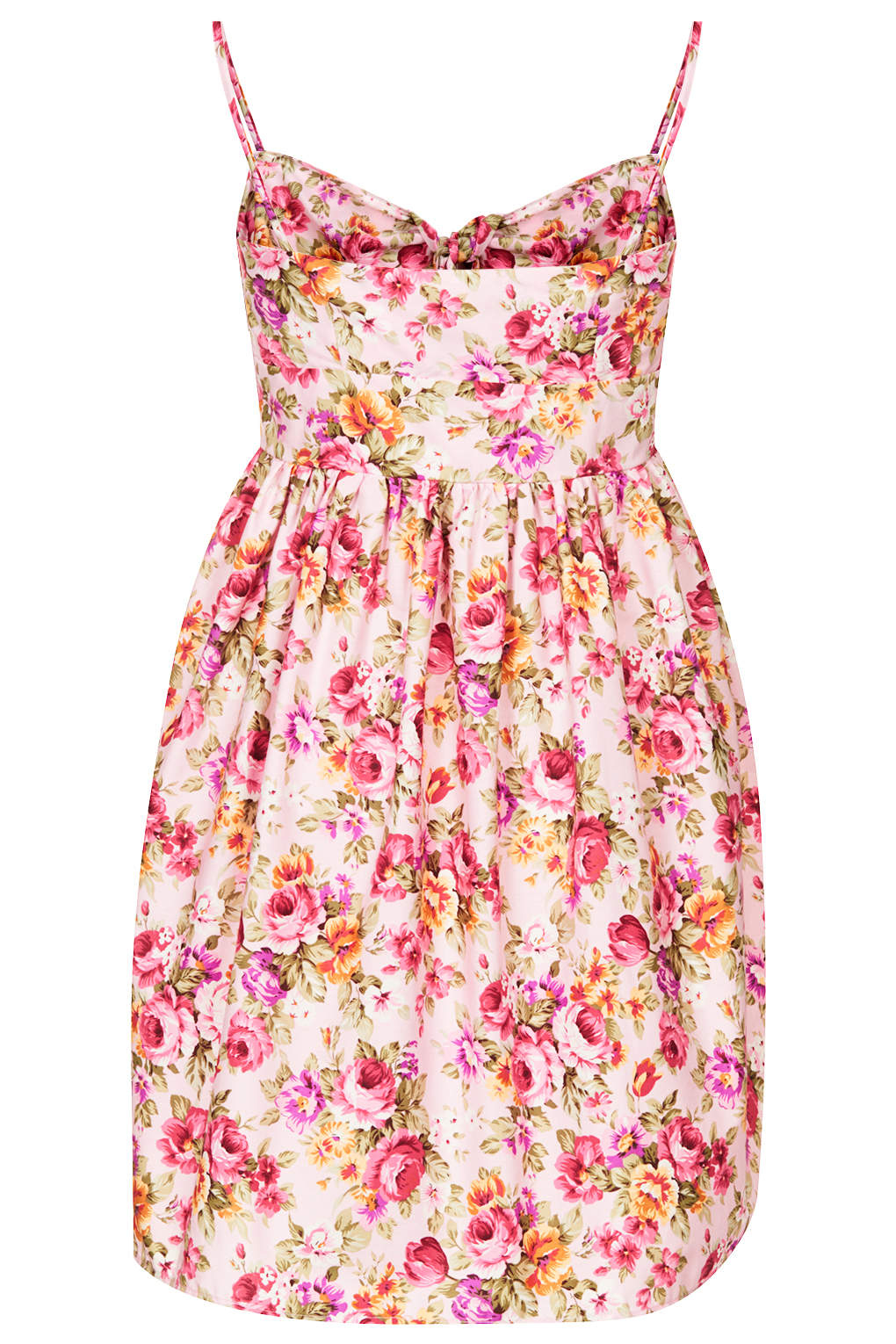 Lyst Topshop Womens Floral Tie Front Babydoll Dress By