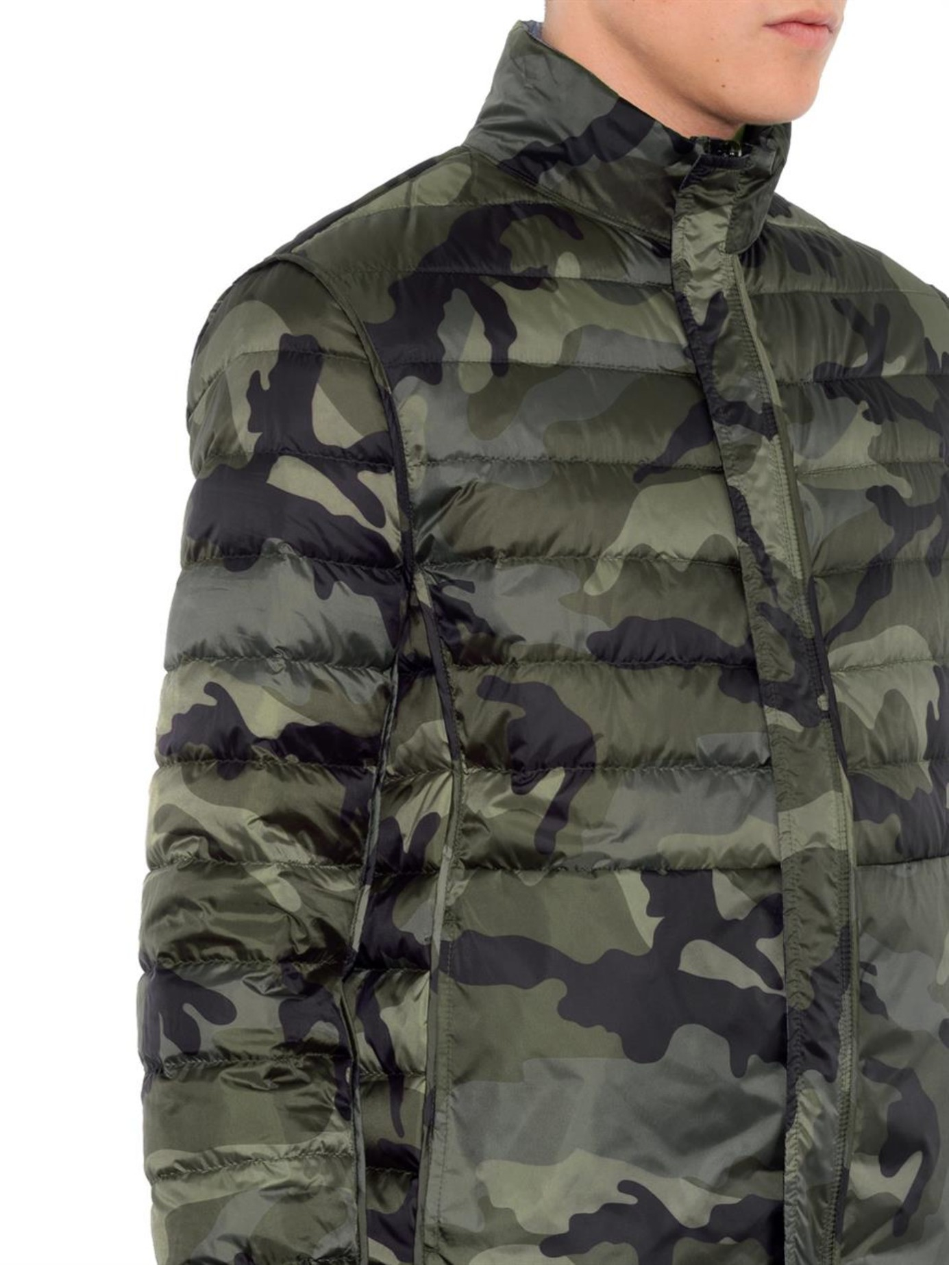 ef71fbd879e30 Valentino Reversible Camo-Print Down Jacket in Green for Men - Lyst