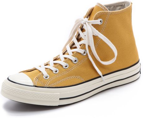 Converse All Star 70s High Top Sneakers In Yellow For Men