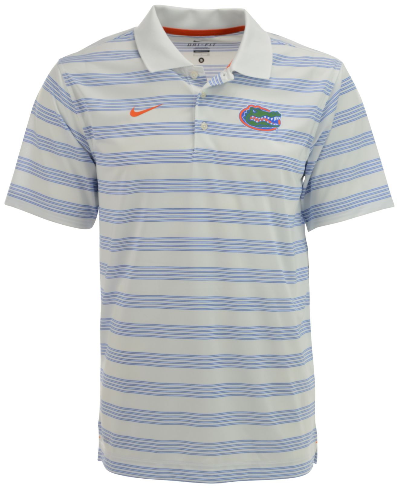Nike men 39 s florida gators dri fit preseason polo shirt in for Dri fit collar shirts