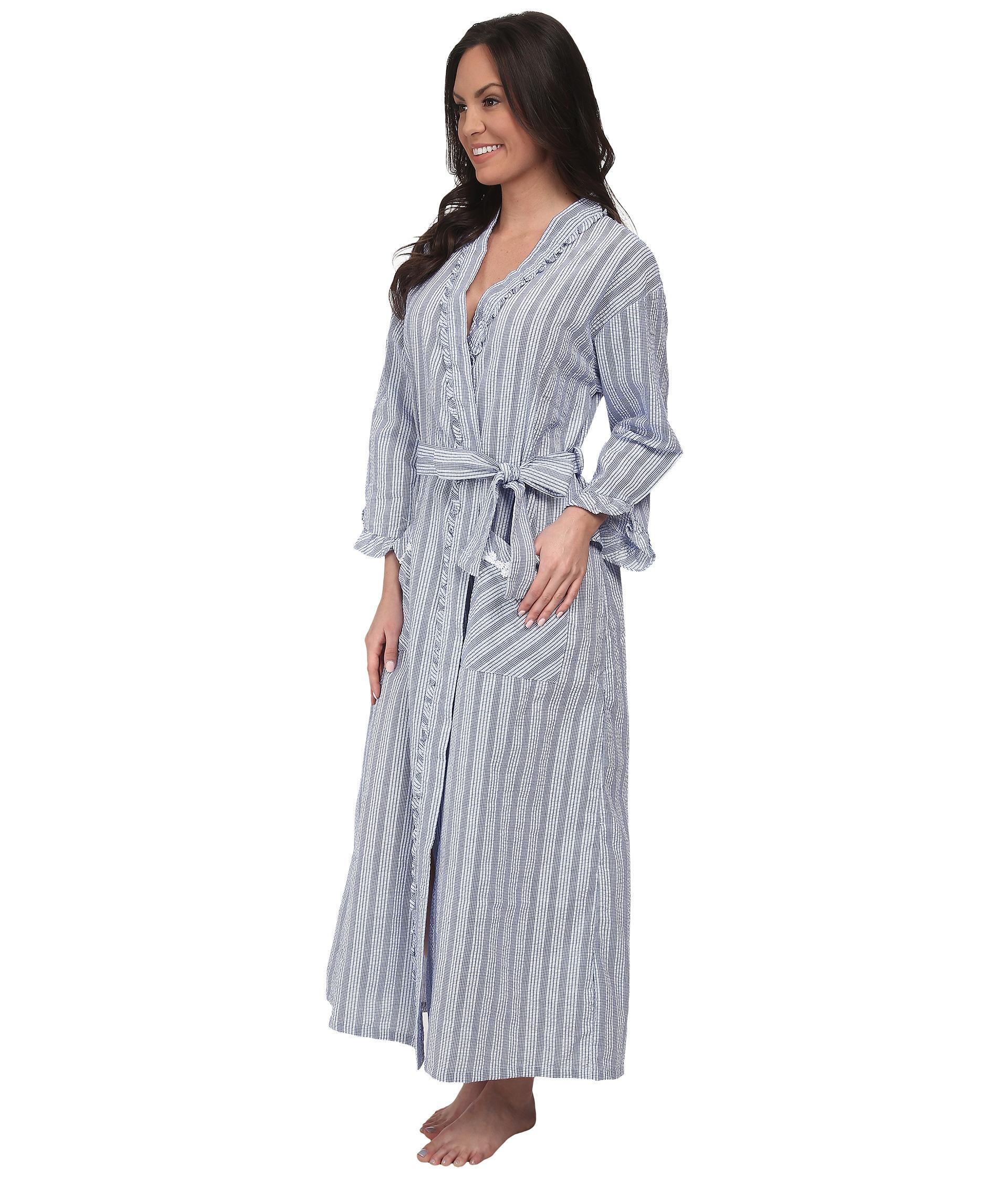 d2b1c18f1b Lyst - Eileen West Summer Days Ballet Wrap Robe in Blue