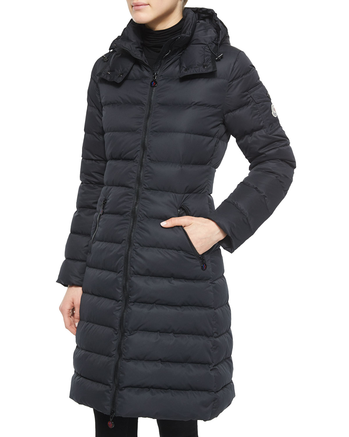 Moncler Moka Quilted Coat In Blue Lyst