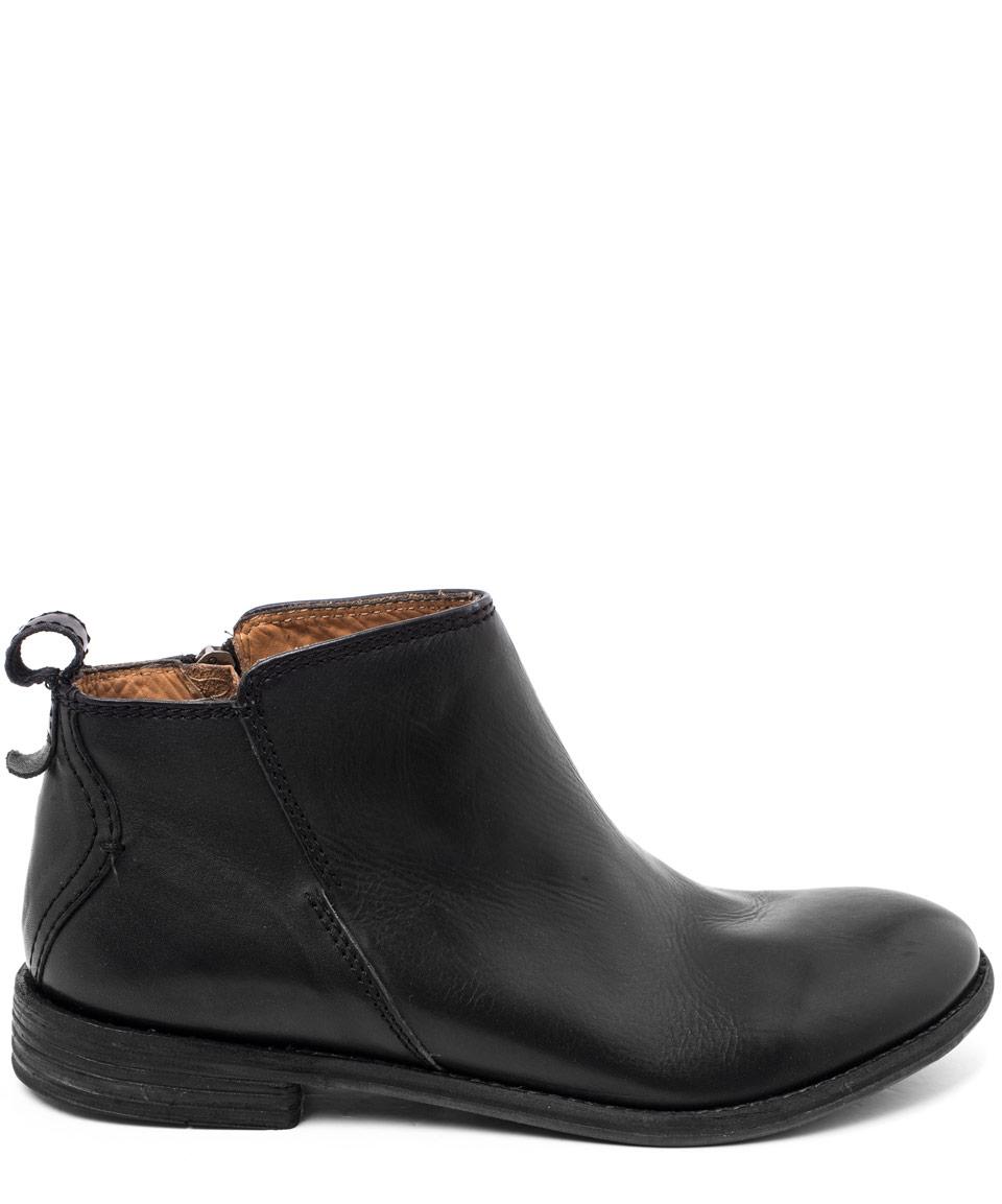 h by hudson black revelin leather ankle boots in black lyst. Black Bedroom Furniture Sets. Home Design Ideas