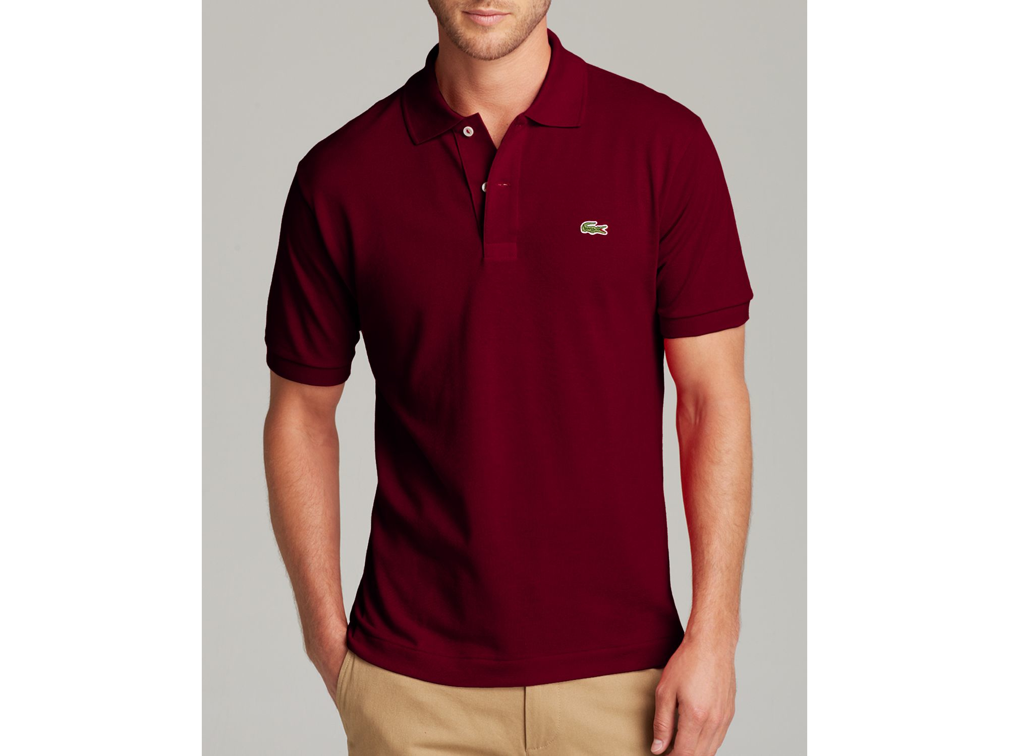 2f4945f570e Lacoste Classic Short Sleeve Piqué Polo Shirt in Red for Men - Lyst