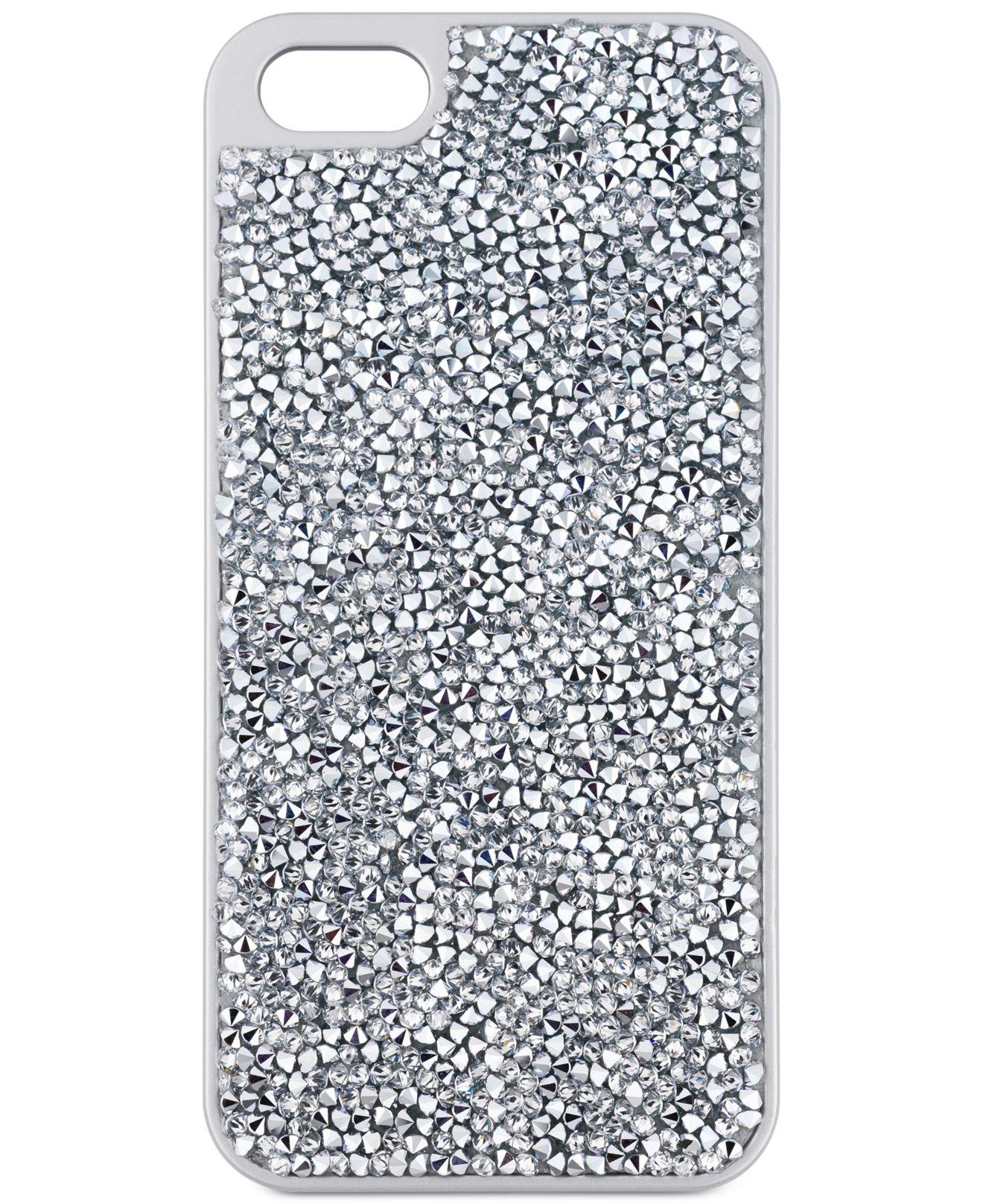 the latest afdc3 1f9d1 Swarovski Metallic Silver-tone Glam Rock Iphone 6 Case
