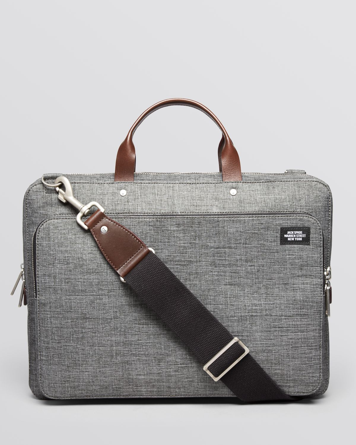 Jack Spade Tech Oxford Slim Supply Briefcase In Gray For