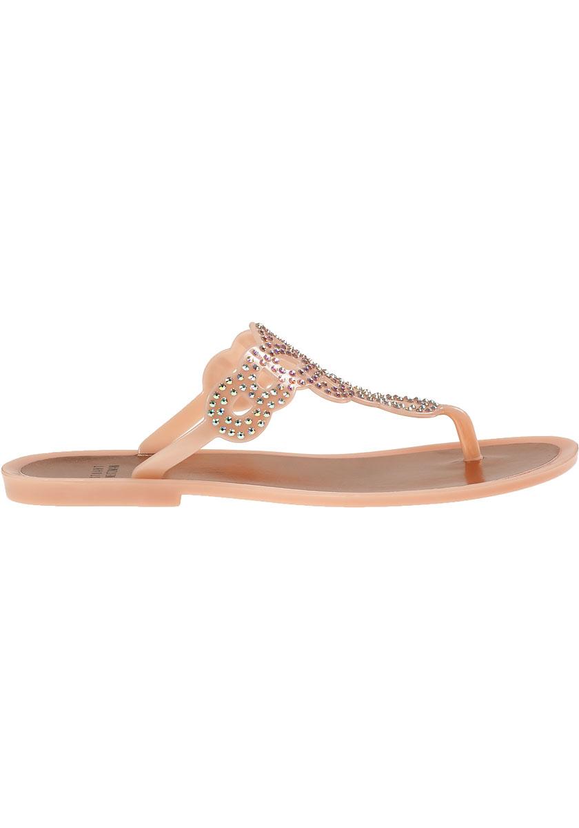 025cf8822b29 Lyst - Stuart Weitzman Mermaid Thong Sandal Rose Gold Jelly in Pink