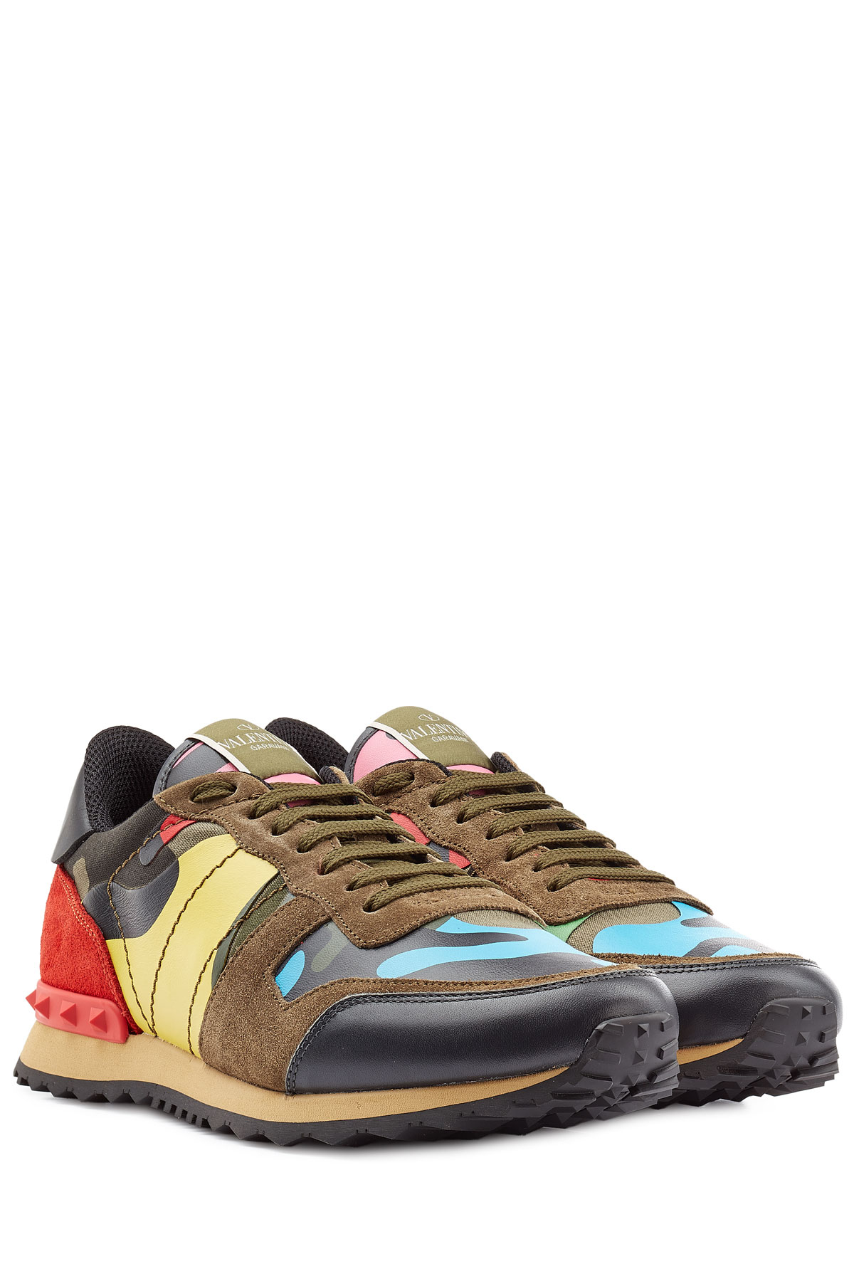 valentino camouflage sneakers in green for men lyst. Black Bedroom Furniture Sets. Home Design Ideas
