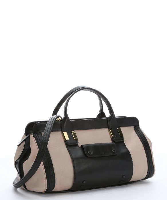Chlo�� Pre-owned: Rope And Black Leather Convertible Top Handle Bag ...