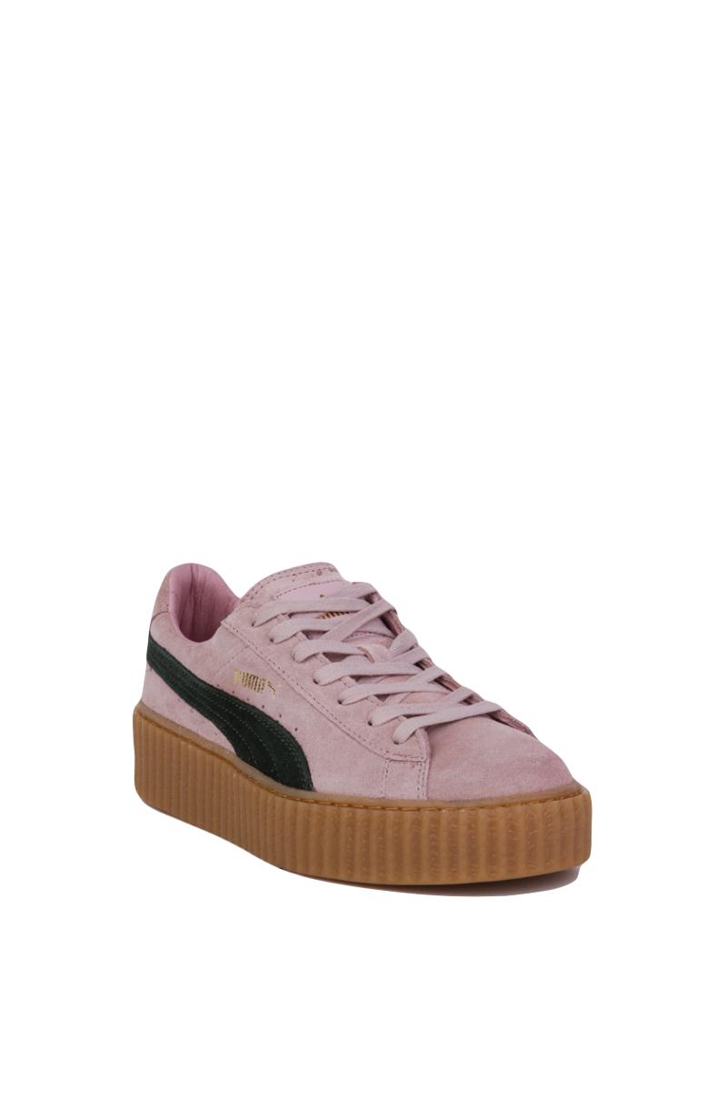 e3f81a413f796e Lyst - PUMA X Rihanna Suede Creepers in Pink