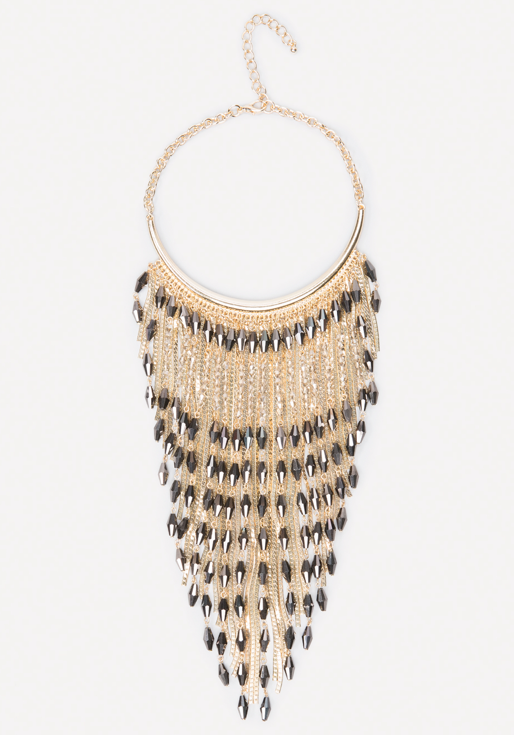 bebe bead snake chain necklace in metallic lyst