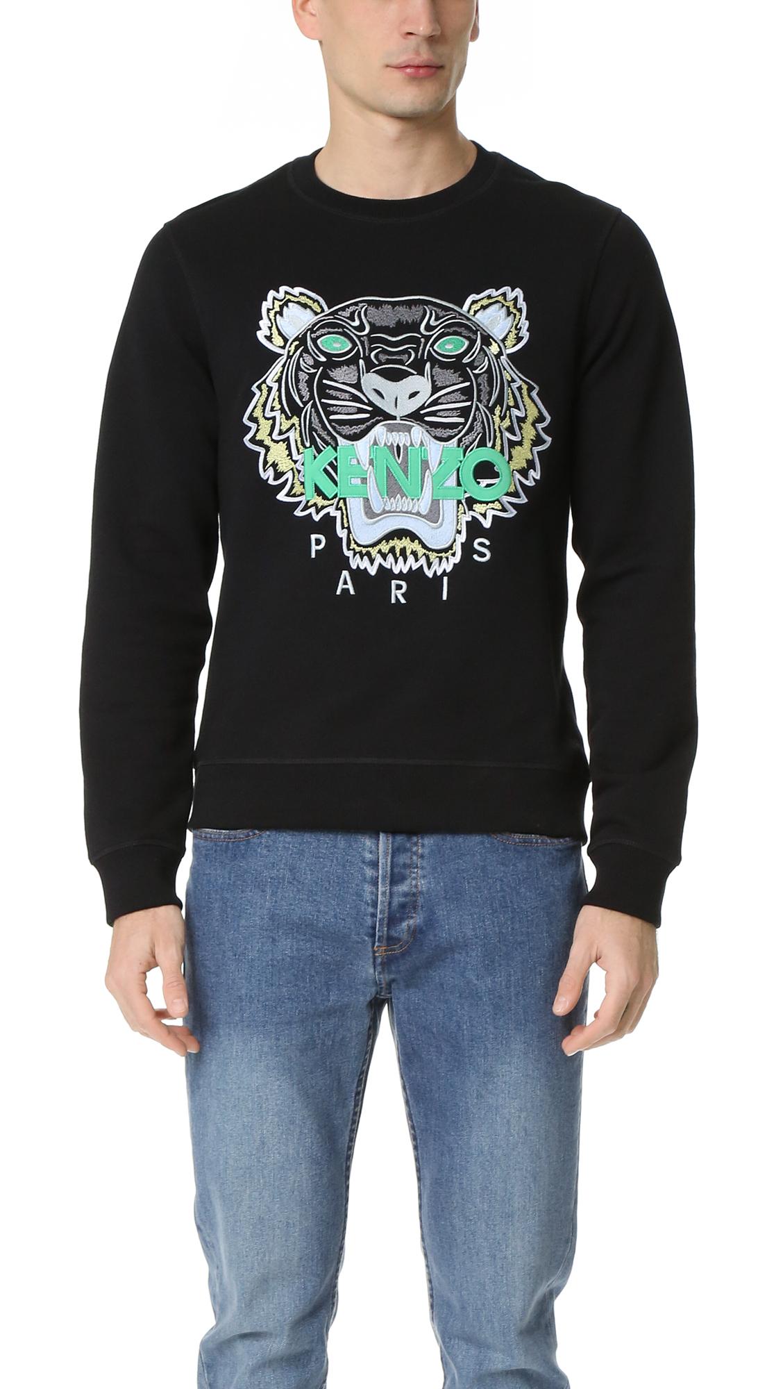 1f908cb9178c KENZO Cotton Sweatpants - Black in Black for Men - Lyst