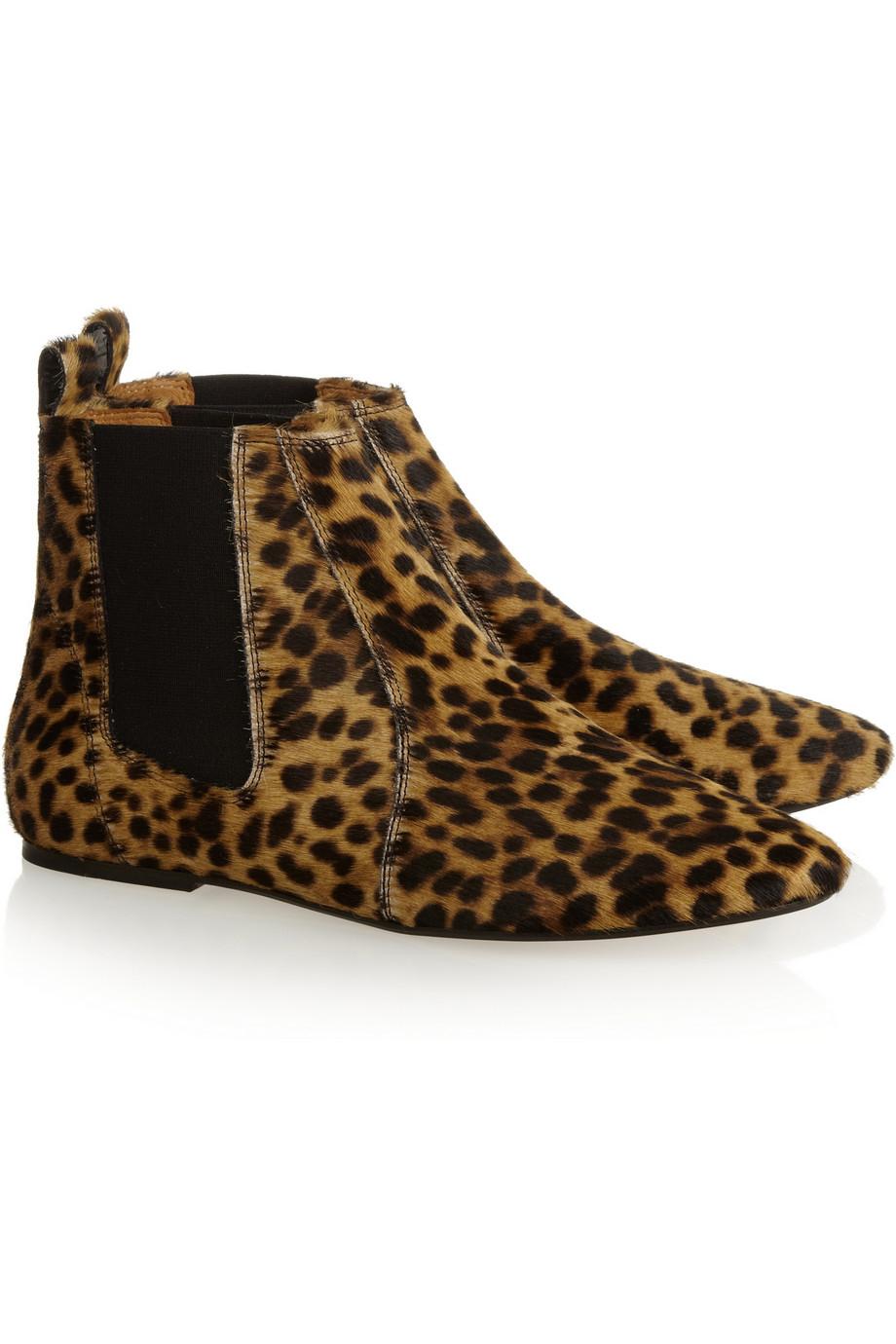 Lyst Isabel Marant 201 Toile Dewar Leopardprint Calf Hair
