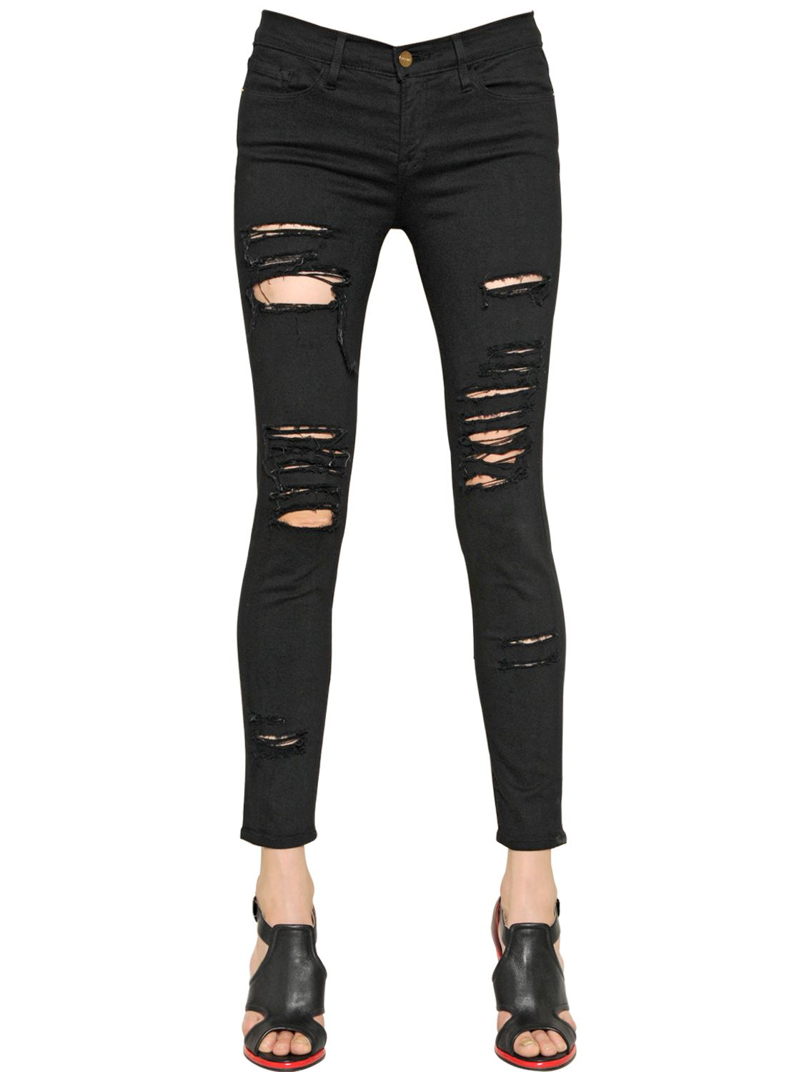 Find black destroyed skinny jeans at ShopStyle. Shop the latest collection of black destroyed skinny jeans from the most popular stores - all in one.