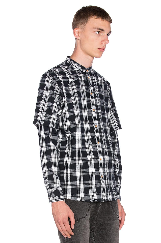 Lyst I Love Ugly Mandarin Collar Shirt In Black For Men