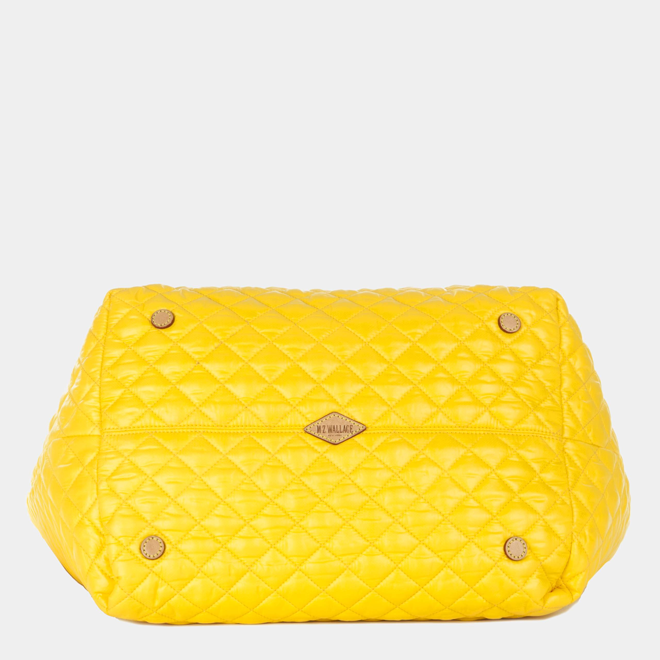 MZ Wallace Large Metro Tote Bright Yellow Quilted Oxford Nylon