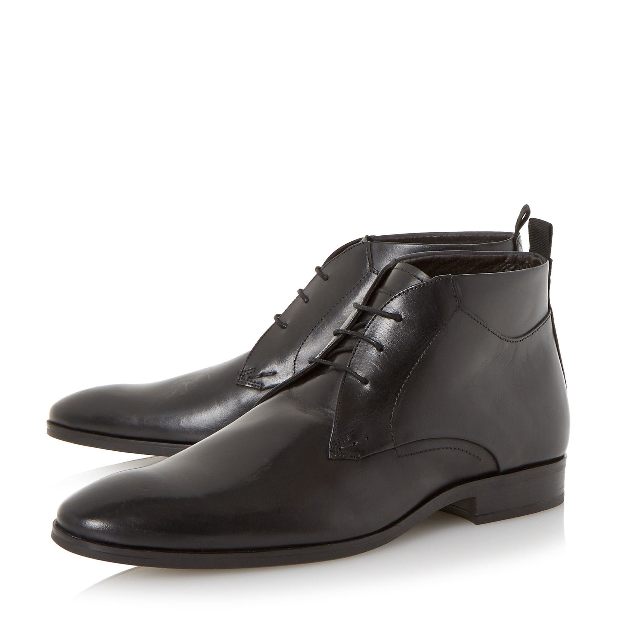 bertie mack leather chukka boots in black for lyst