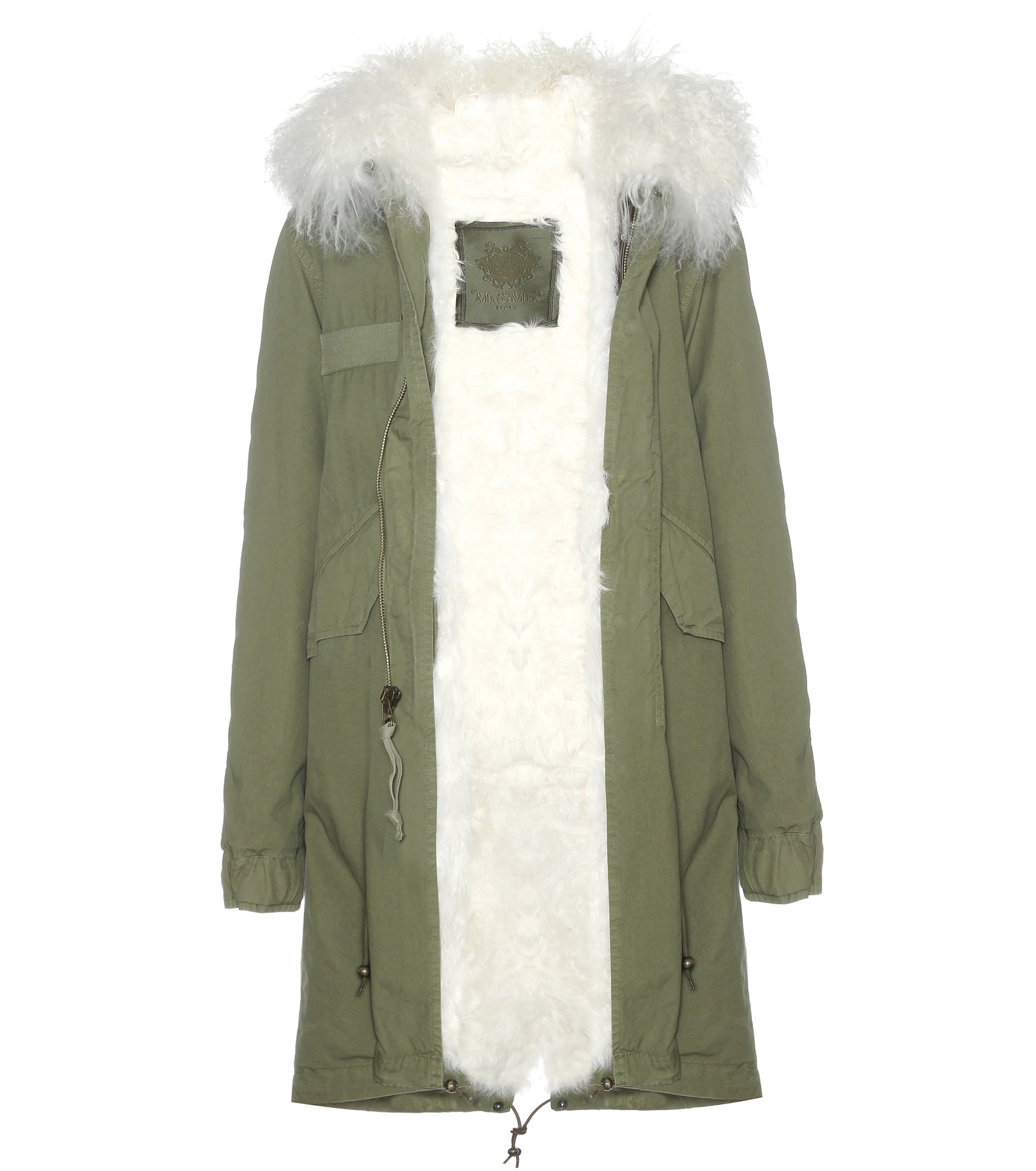 Mr & mrs italy Army Fur-lined Parka With Fur-trimmed Hood in Green ...