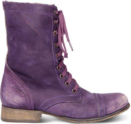 Steve Madden Troopa In Purple Purple Leather Lyst
