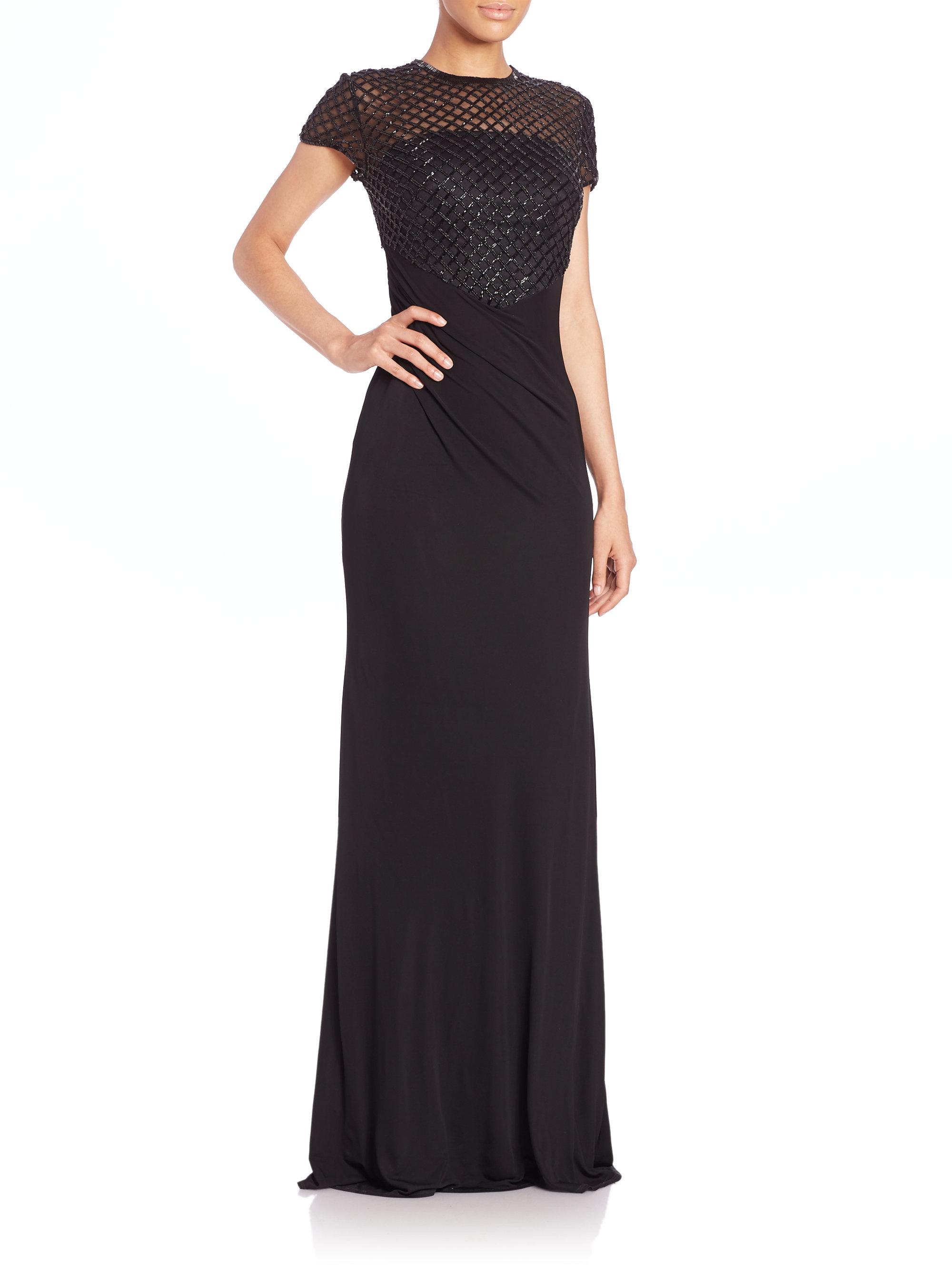 Lyst David Meister Beaded Net Bodice Gown In Black