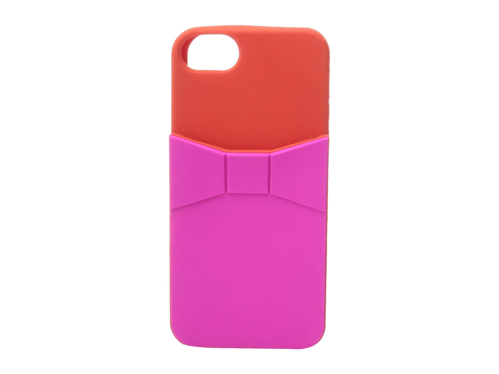 Kate Spade Bow Pocket Silicone Phone Case For Iphone 5 in Red ...