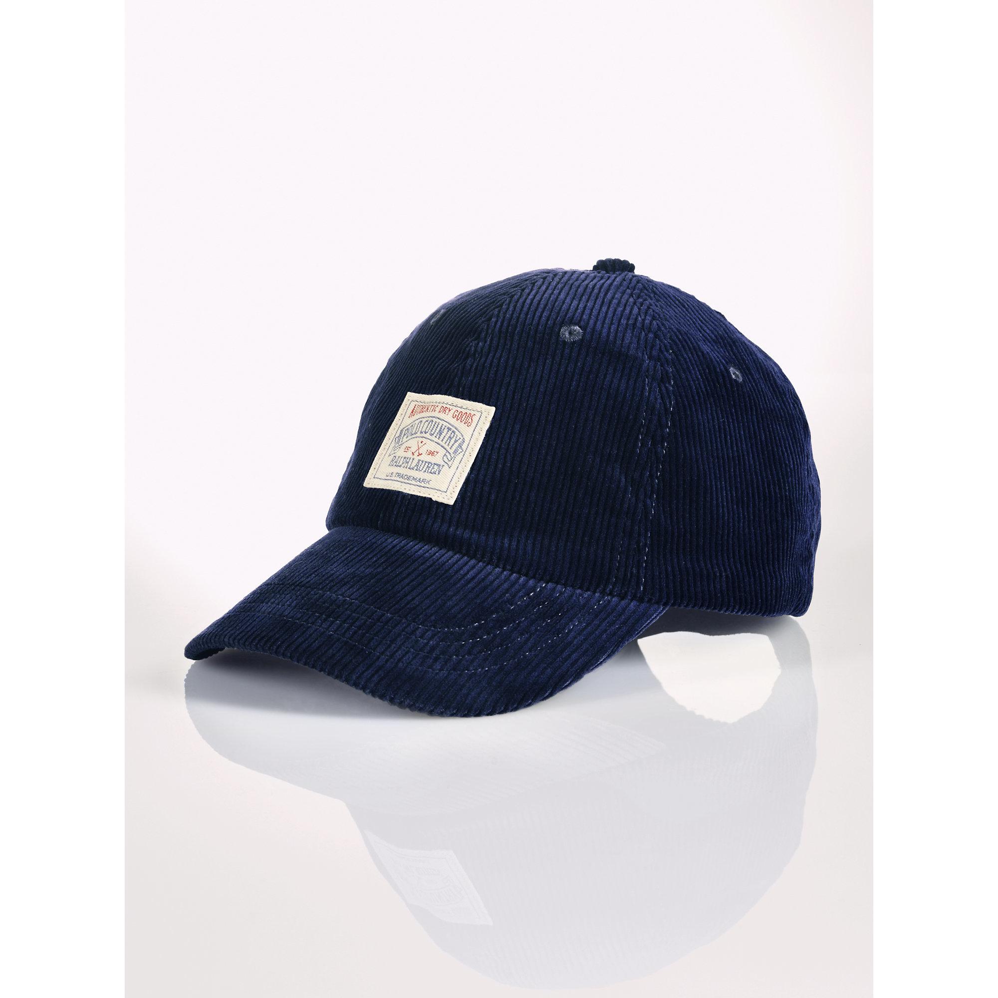 Lyst - Polo Ralph Lauren Corduroy Hat in Blue for Men 5ca2816f7c0