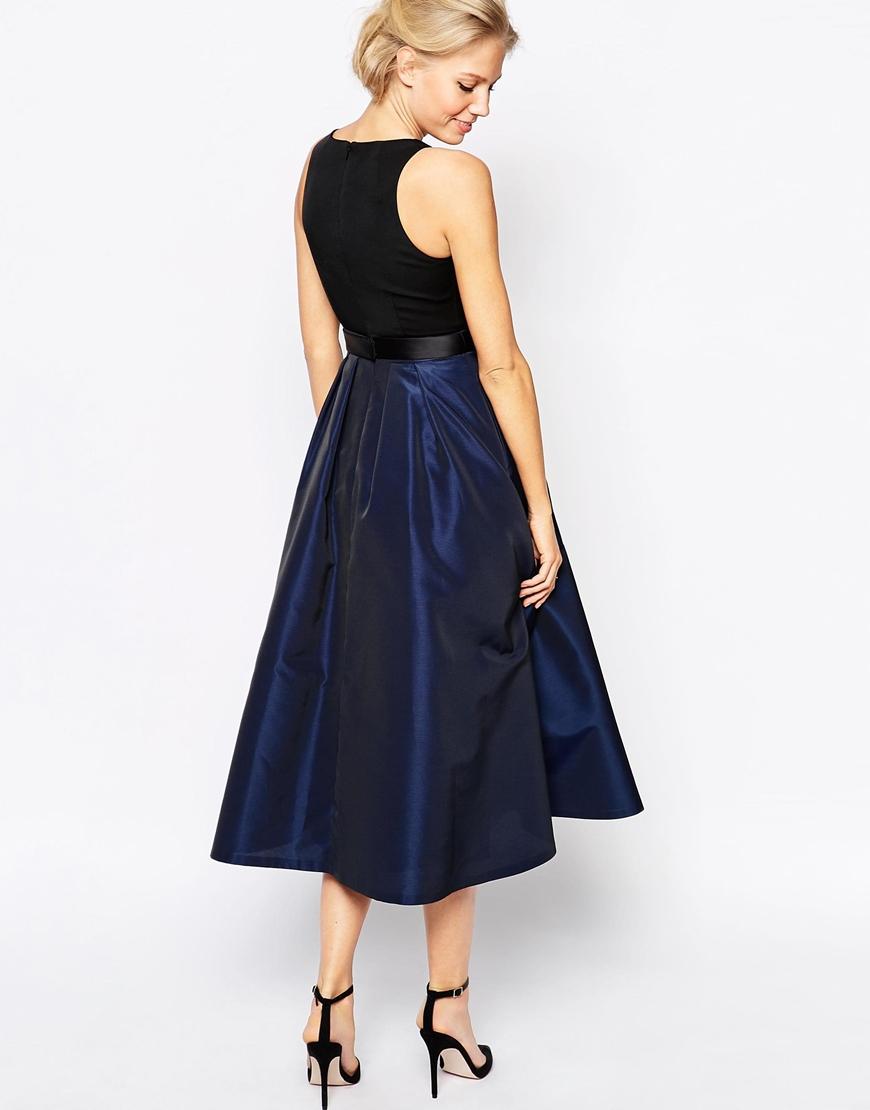 Lyst Coast Kyla Dress With Full Skirt In Black
