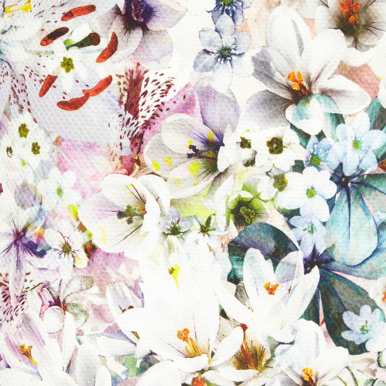 River Island White Floral Print Mini Skirt In White Lyst