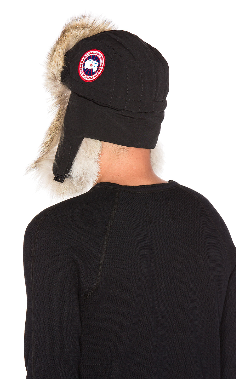 c807b31454c Shearling Sheepskin Cap With Snap Flaps And Leather Trim. Bomber Black Fur  Leather Jacket - Uh Jackets Lyst - Canada goose ...