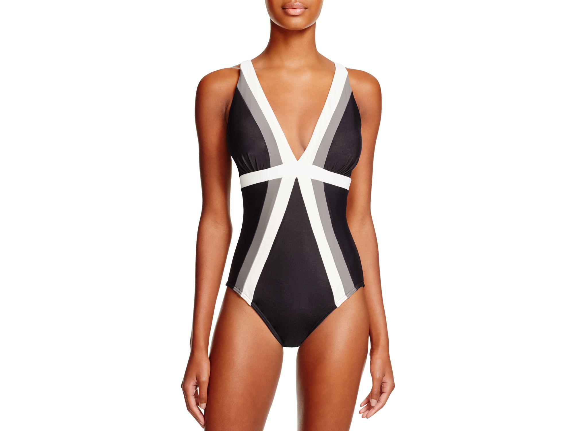 769cf2fad6913 Miraclesuit Spectra Trilogy One Piece Swimsuit in Black - Lyst