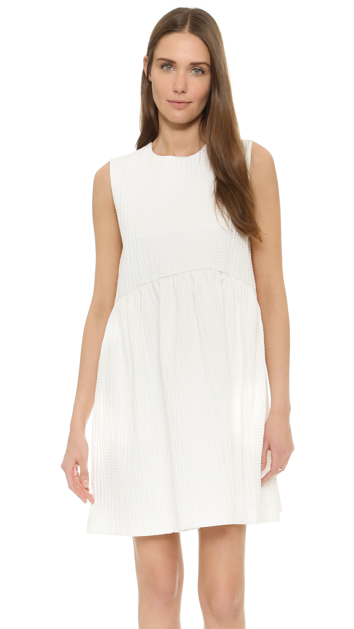 pleated seam fitted dress - White Msgm 1DVDYyp75f