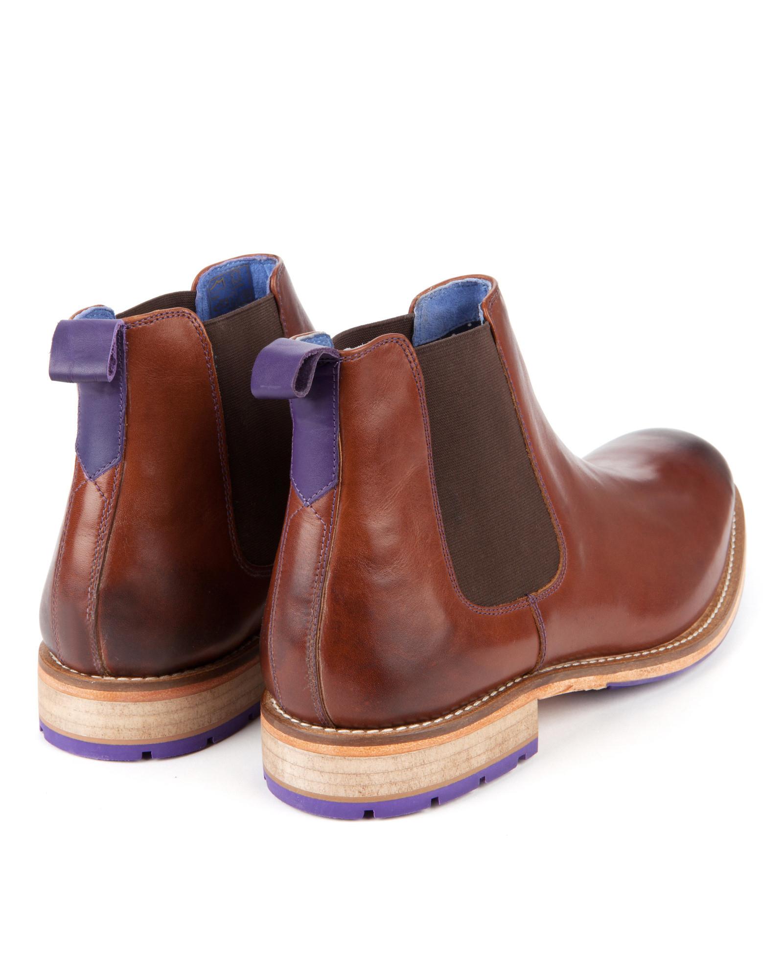 4dd2e77aea1 Ted Baker Brown Leather Chelsea Boot for men