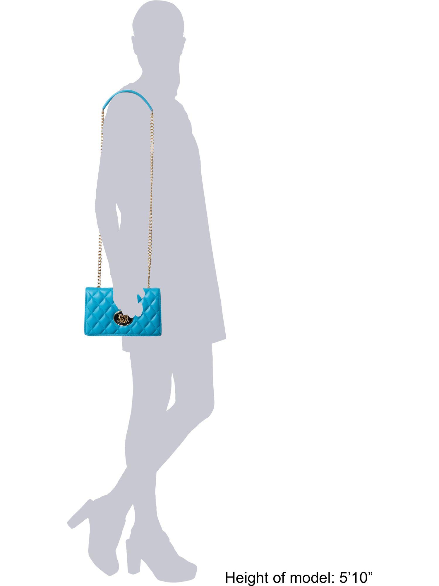 Love Moschino Blue Mini Cross Body Quilt Bag