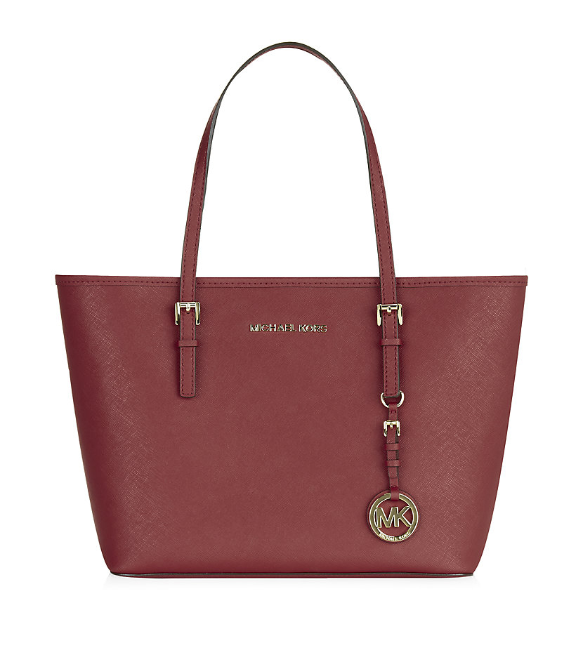 michael michael kors jet set small travel tote in red lyst. Black Bedroom Furniture Sets. Home Design Ideas