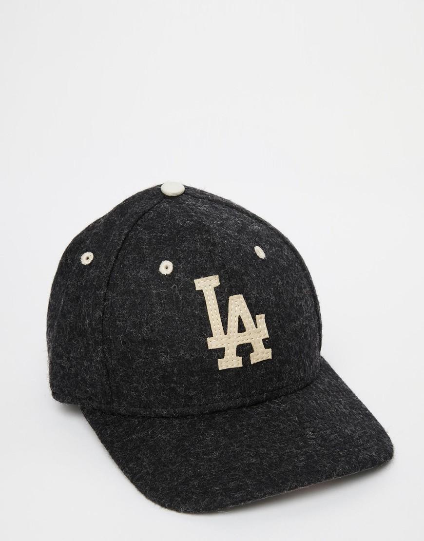 Lyst - KTZ 9fifty Wool La Dodgers Snapback Cap in Black for Men a51bbe245b7
