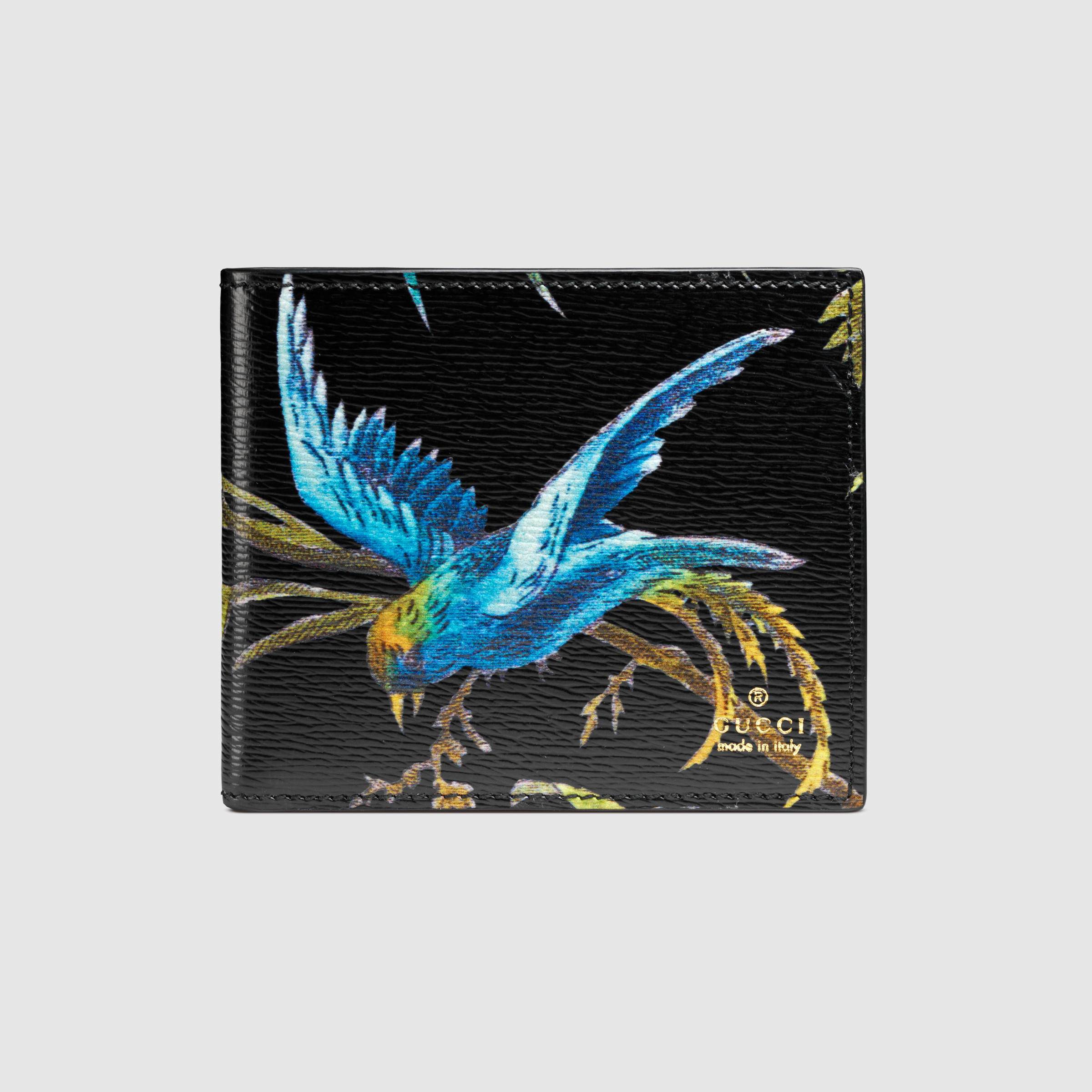 aef026f77dc Gucci Tropical Print Leather Wallet for Men - Lyst