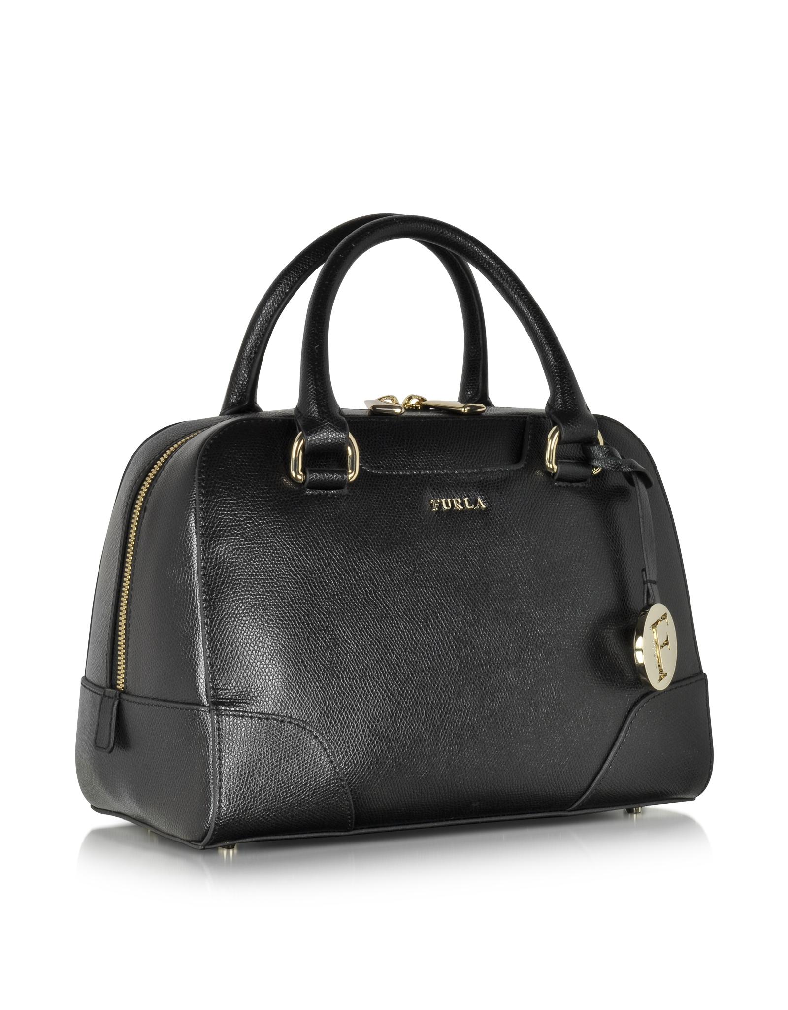 Lyst Furla Dolly Onyx Leather Small Satchel In Black