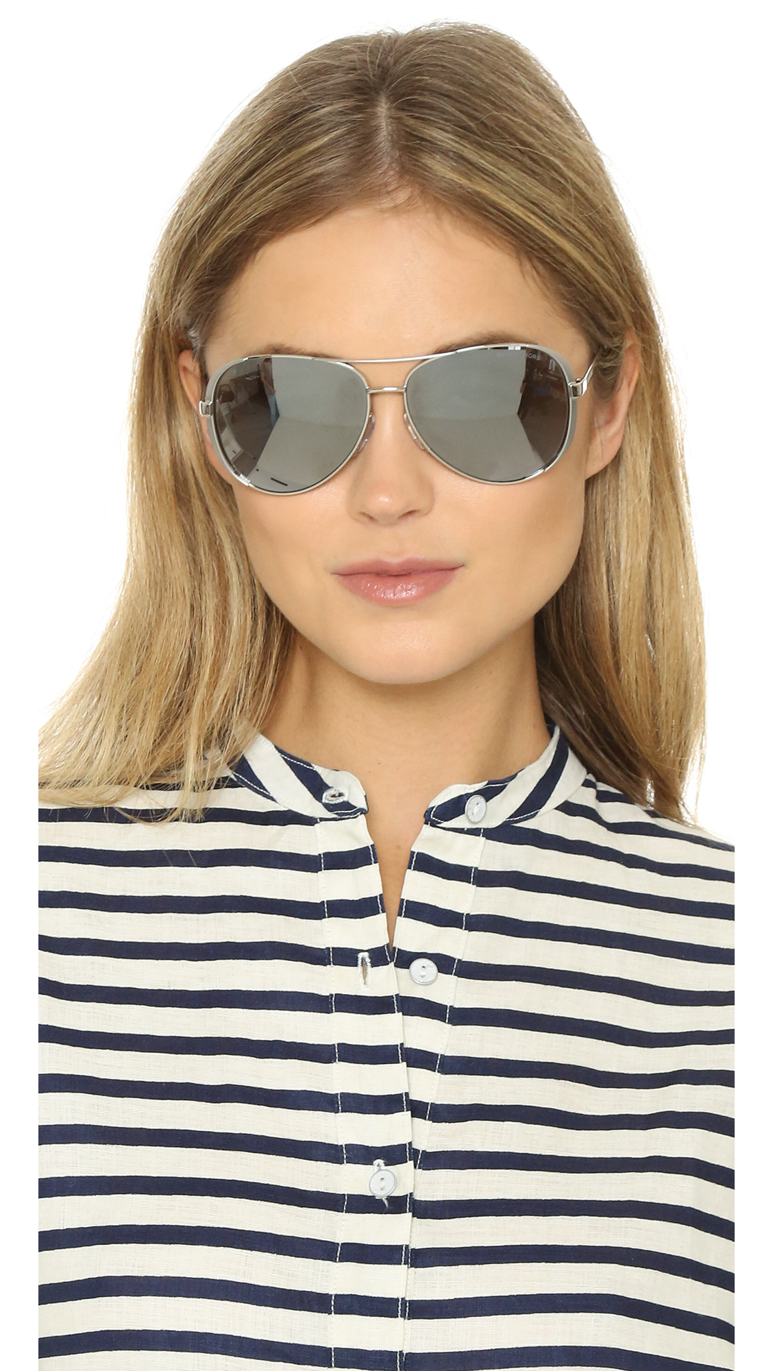 40330095e794 Michael Kors Chelsea Polarized Sunglasses in Metallic - Lyst