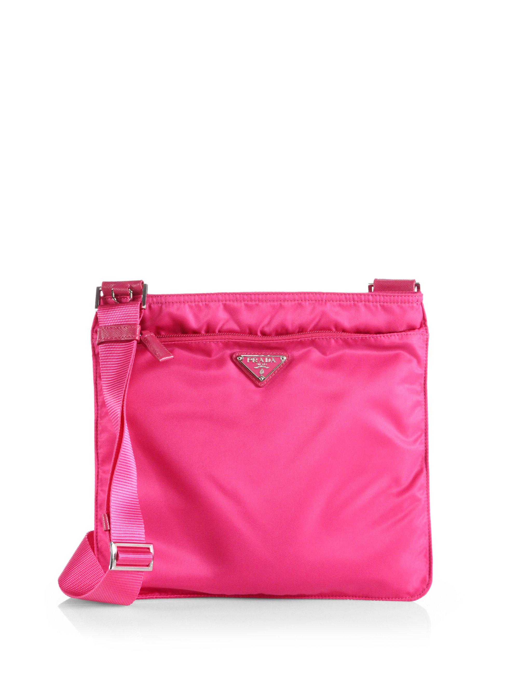 60f9ba56ea525e Prada Vela Crossbody Bag in Pink - Lyst