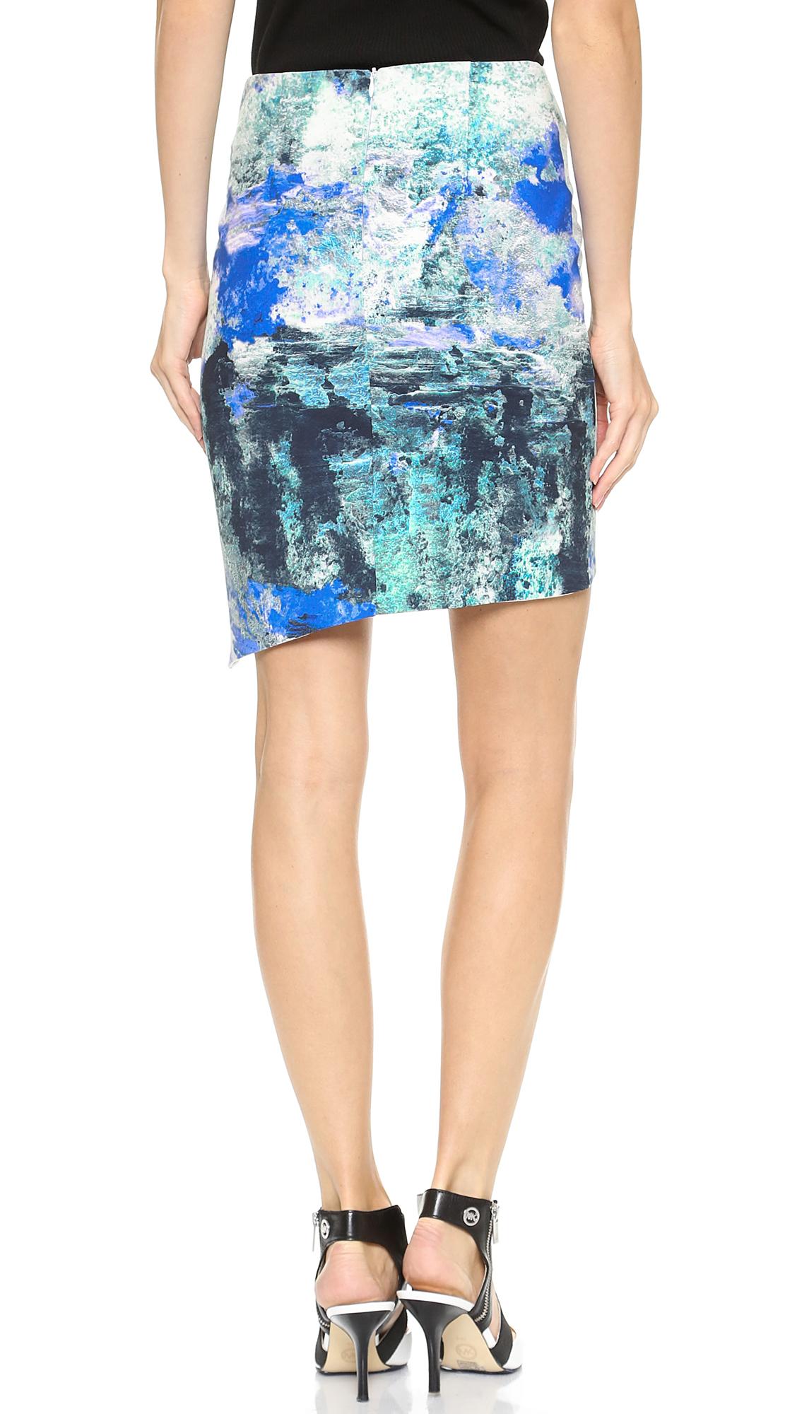 bec bridge skirt blue print lyst
