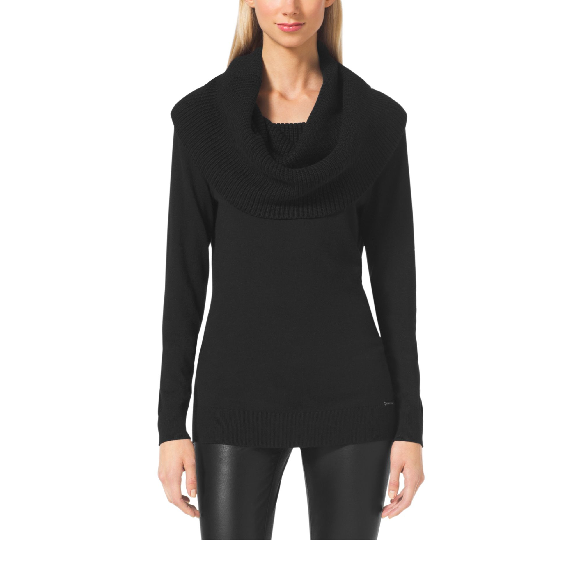 Michael kors Cowl-neck Sweater in Black | Lyst