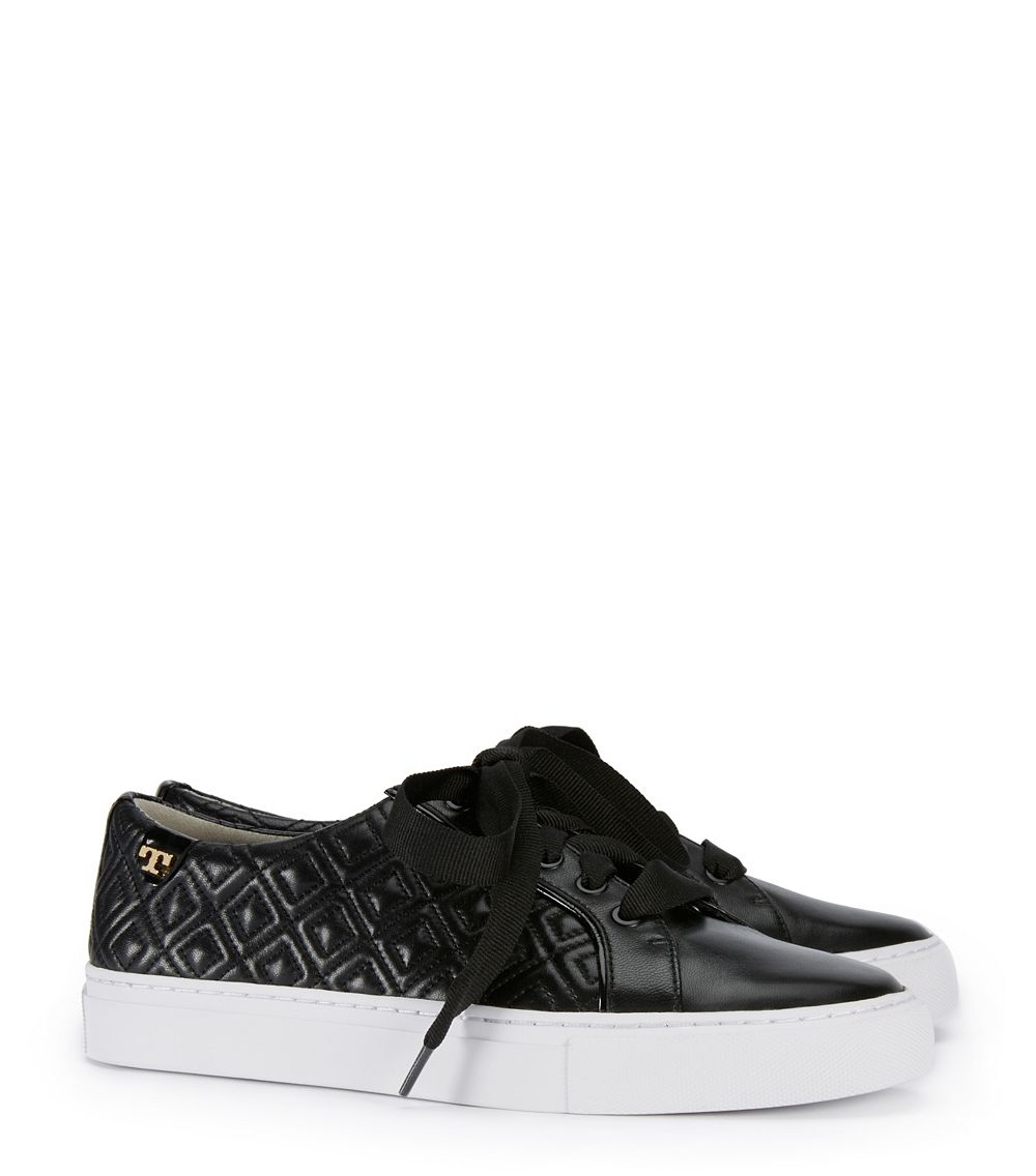74184e047bef2a Lyst - Tory Burch Marion Quilted Sneaker in Black