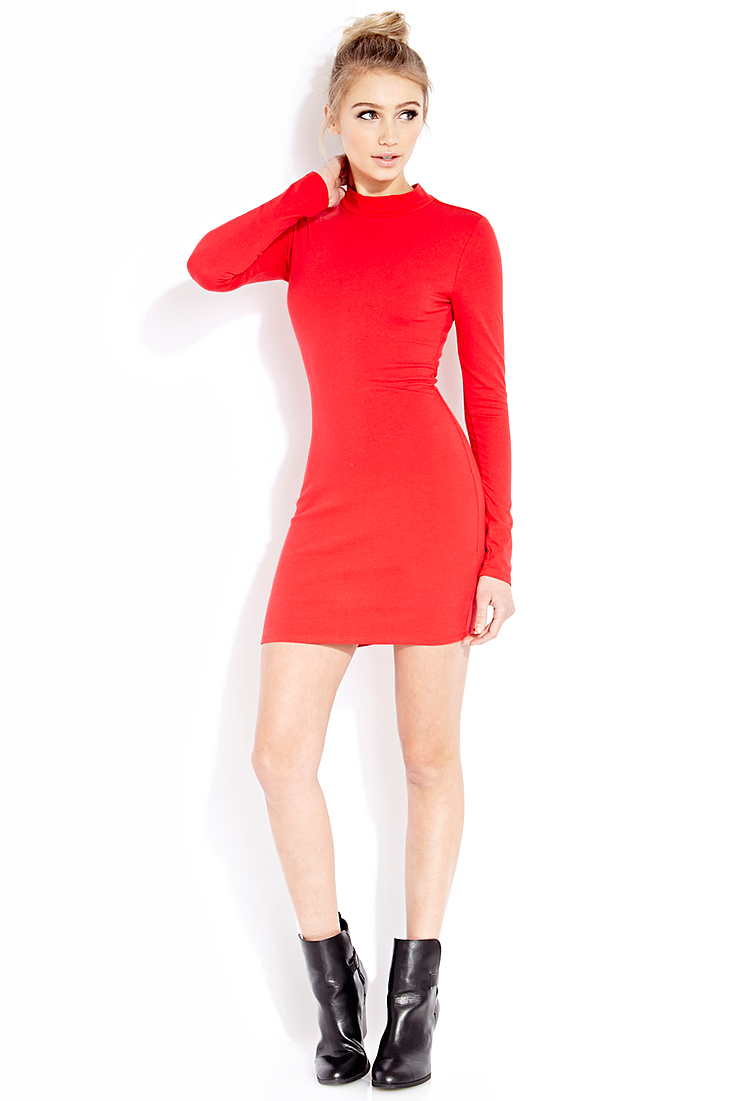 Forever 21 Bombshell Bodycon Dress in Red | Lyst