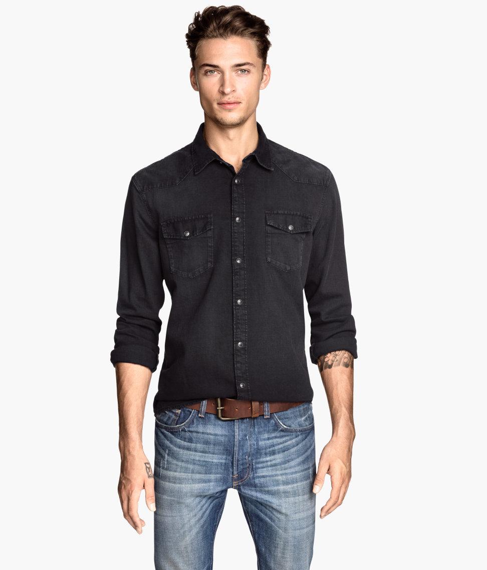 h and m mens shirts