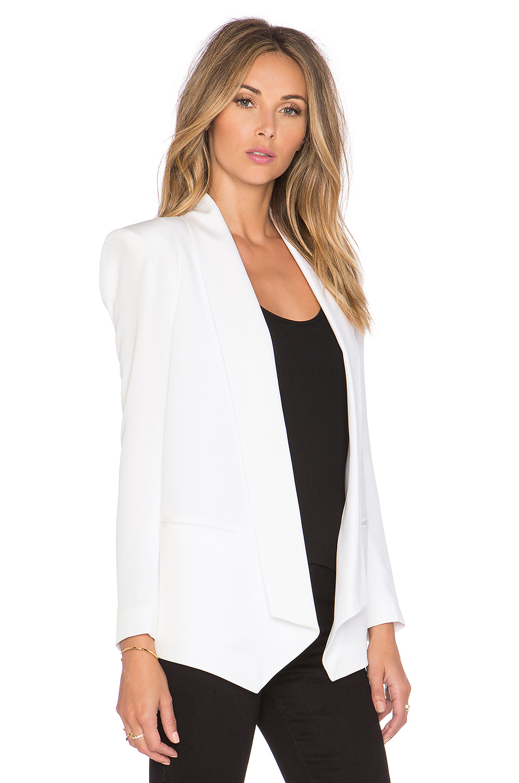 Lyst - Rebecca minkoff Becky Silk Jacket in White