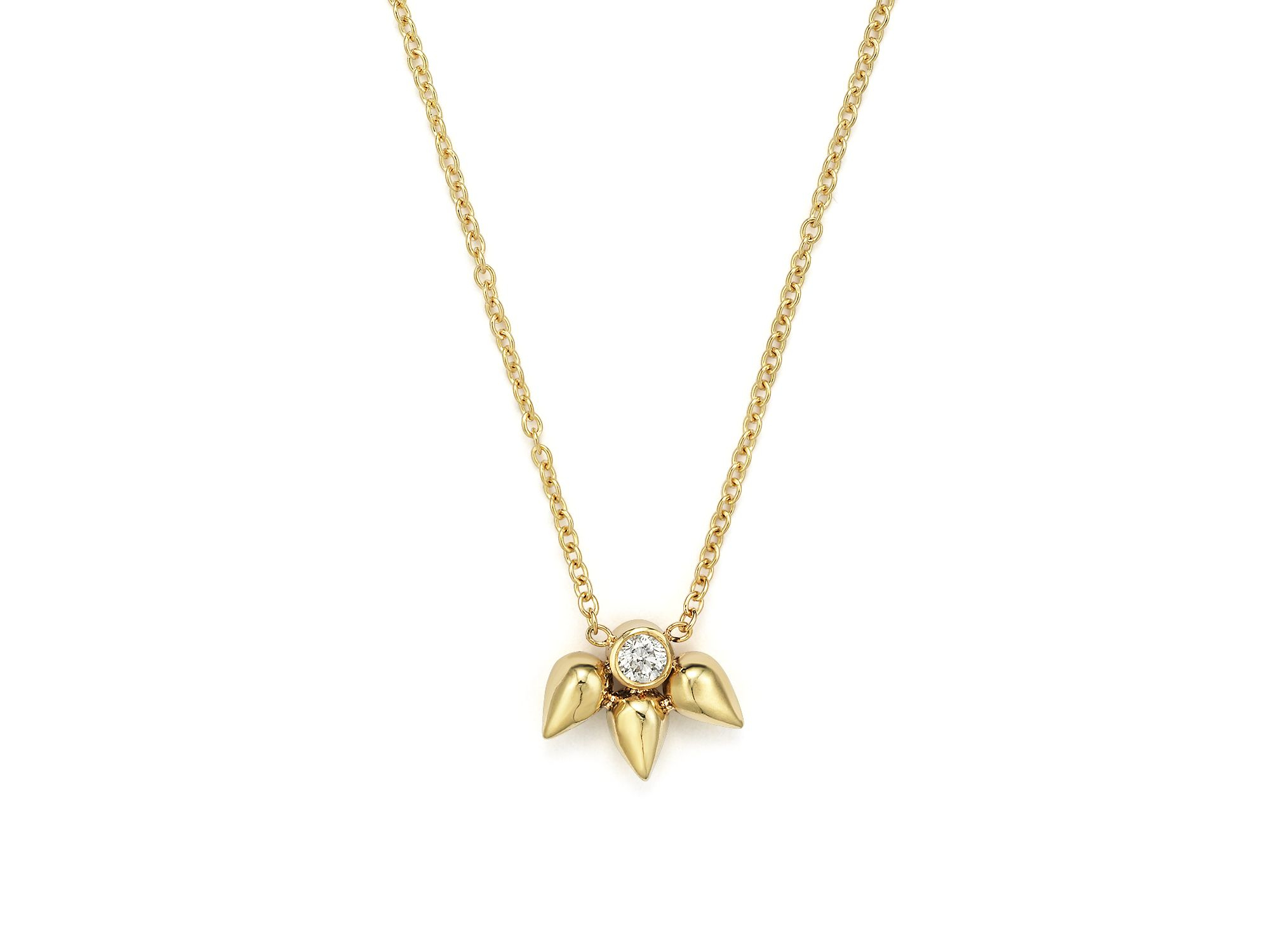 zoe chicco 14k tiny bullet cluster and pendant