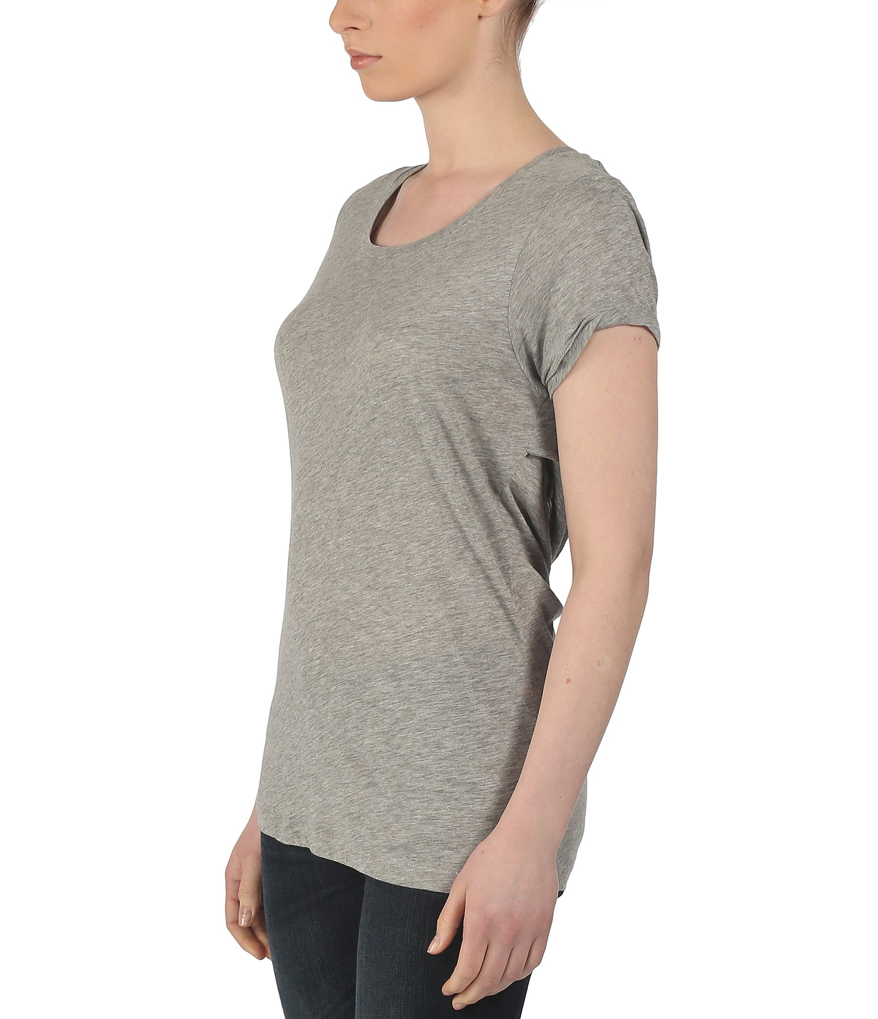 Lyst bench keel round neck slash back t shirt in gray for Thrilla in manila shirt under armour